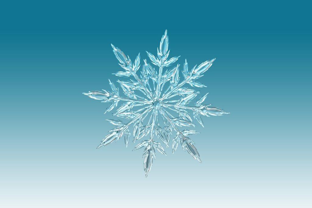 ice crystal, crystal, snowflake